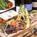 料理メニュー写真肉の炭焼きプレート ~みやじ豚・森林鶏・牛ハラミの盛り合わせ~