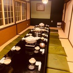 最大30名様までの団体様をご案内できます。ゆったりした大型個室で、消毒等は勿論席間隔への配慮も万全。大人数での会食やご宴会の際にオススメです!!
