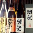 日ごとに切り替わる自慢の「焼酎・日本酒」。その日のオススメはオーナーがお伝えします。