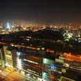 お部屋から大阪・天王寺の夜景が見渡せます♪ゆったりとした空間でお食事をお楽しみ頂けます。2名様~個室利用OK!!デートはもちろん、女子会やコンパなど小規模宴会にもお気軽にご利用下さい!!