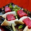 料理メニュー写真村上牛の串焼(1本)
