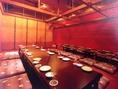 【地下フロア】最大60名収容可で大宴会にも対応!会社宴会・忘年会にどうぞ。