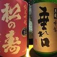 左:栃木県・松井酒造店『松の寿』純米吟醸。/右:福井県・黒龍酒造『垂れ口』吟醸。