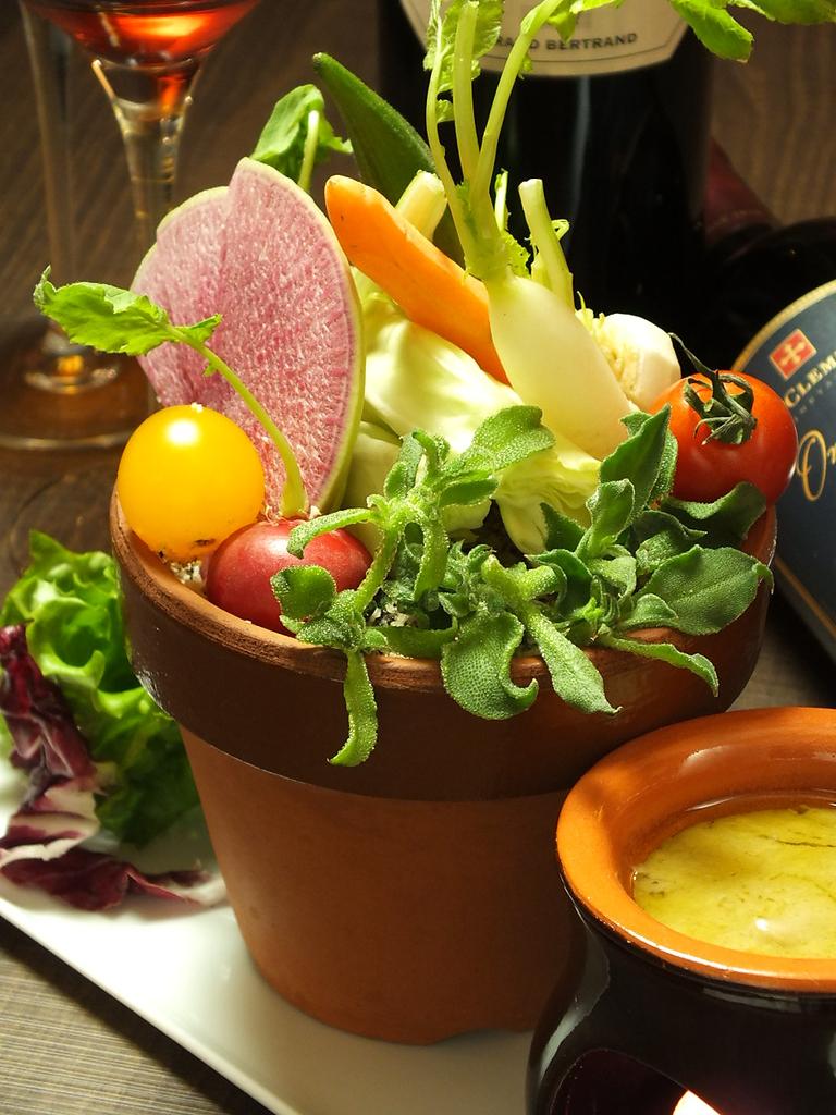 女性に嬉しい、旬の野菜をふんだんに使ったメニューもご用意。