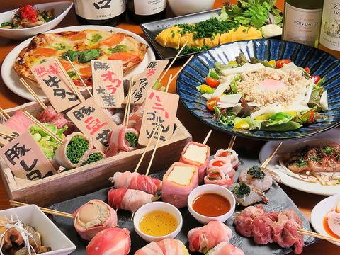 銀天街!野菜肉巻き串・ビア缶チキン・鶏つくねもつ鍋の三大名物!!