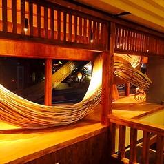 博多の竹細工職人の技、思いを身近に感じるお席になります。