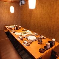 各種宴会、家族での食事にも最適な空間をご用意