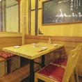 【2階】開放感のある店内2階にはテーブル席をご用意しております。座ってゆっくりお過ごし頂ける人気のお席です。