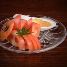 冷やしトマト 味噌マヨネーズ