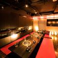 《渋谷個室肉バル》会社宴会などにオススメのお座敷個室♪利用シーンに合わせてご利用いただける個室はご満足いただけます。個室ならではの周りを気にせず宴会をおたのしみいただけます。渋谷・完全個室・宴会・女子会・記念日・2時間飲み放題コースは2800円~★幹事無料クーポンあり♪