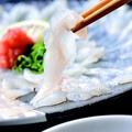 料理メニュー写真とらふぐ刺し(九州産)