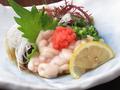 料理メニュー写真タラ白子ポン酢の天ぷら