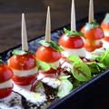 料理メニュー写真ミニトマトとモッツァレラチーズのピンチョスカプレーゼ