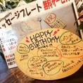 誕生日にはこんな感じにHappy Birthdayなどと、、メッセージを、、。