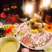 (ある日の一例)誕生日のお祝いはお任せください♪当店自慢のサプライズプレートで素敵なお誕生日を演出いたします☆大人気のサービスですのでご予約はお早めに!
