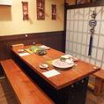 【広々としたテーブル席】最大8名様まで座れるテーブル