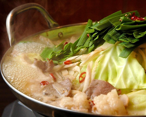 新鮮な国産牛の小腸(もつ)をたっぷり使ったの本場博多の味が宇都宮で楽しめる!