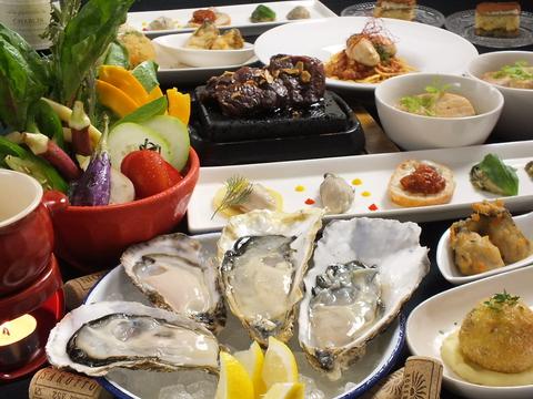 こだわりの食材、魚介をスパニッシュイタリアンスタイルで…