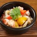 料理メニュー写真海鮮タルタルチーズ鉄板焼き / 海鮮おこげあんかけ石焼き