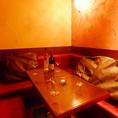 ◆ゆったりフカフカのソファー席◆秋葉原の騒音を忘れ、プライベートな時間をお過ごしください。