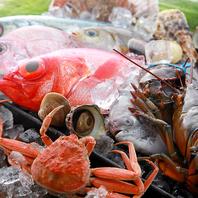 季節に合わせた旬の新鮮魚介とお野菜
