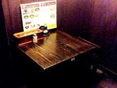 カップルにピッタリな、二名様用のテーブル席。