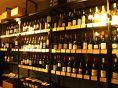 ワインは品種別の陳列。お好みのワインを★