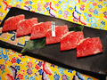 料理メニュー写真【焼き肉生肉系単品~胸】★石垣美崎牛 カルビプレート / ブリスケコブ