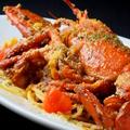 料理メニュー写真オマール海老のトマトクリームパスタ