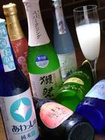 スパークリング日本酒もあります♪