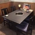 テーブルとテーブルの間隔が広いので安心安全!
