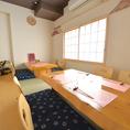 個室空間もテーブル席、座敷席をご用意しております。座敷席は人気のお席になりますのでお早目にご予約ください。