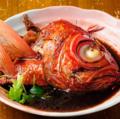 料理メニュー写真金目鯛カマの煮付 / 塩焼き