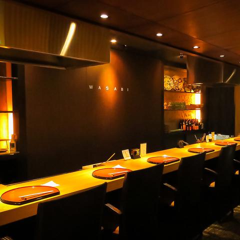 上質な和空間で旬の食材が堪能できるお店[wasabi―わさび―]