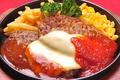 料理メニュー写真ダブルチーズハンバーグ