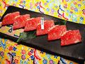 料理メニュー写真【焼き肉生肉系単品~腹(カルビ系)】★石垣美崎牛 カルビ