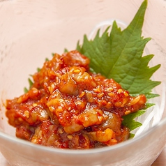 料理メニュー写真チャンジャ/鶏皮ポン酢