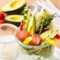 料理メニュー写真新鮮野菜スティック 冷製バーニャカウダー