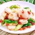 料理メニュー写真帆立貝のXOソース炒め/帆立貝と漬け唐辛子の炒め/帆立貝の黒豆ソース蒸し(3個)