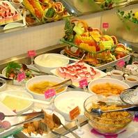種類豊富サラダ&デザートバー!!水曜ランチは100円☆