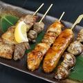料理メニュー写真串盛り(5本)