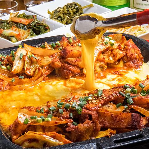 新宿歌舞伎町の韓国料理店★チーズタッカルビメニューに登場♪