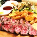 料理メニュー写真熟成肉の炙りステーキ 100g