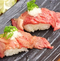 「話題の肉寿司」180円~約12種類と豊富♪