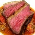料理メニュー写真熟成牛肉イチボの塊肉ロースト