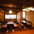 <2F>個室テーブル席、飲み会など仲間内での集まりの際に!ご予約時個室チャージ料お1人様500円頂戴しております