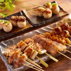 料理メニュー写真おまかせ!博多串焼き六種盛り合わせ
