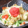 料理メニュー写真炙りホクじゃがの明太サラダ