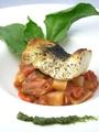 料理メニュー写真すずきのポワレ ラタトゥイユソース