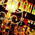 きれいなシャンデリアで雰囲気の変化球☆